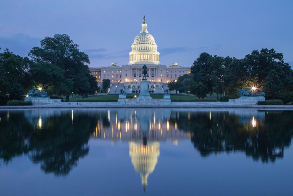 Washington, DC - Reflection of US Capitol Building