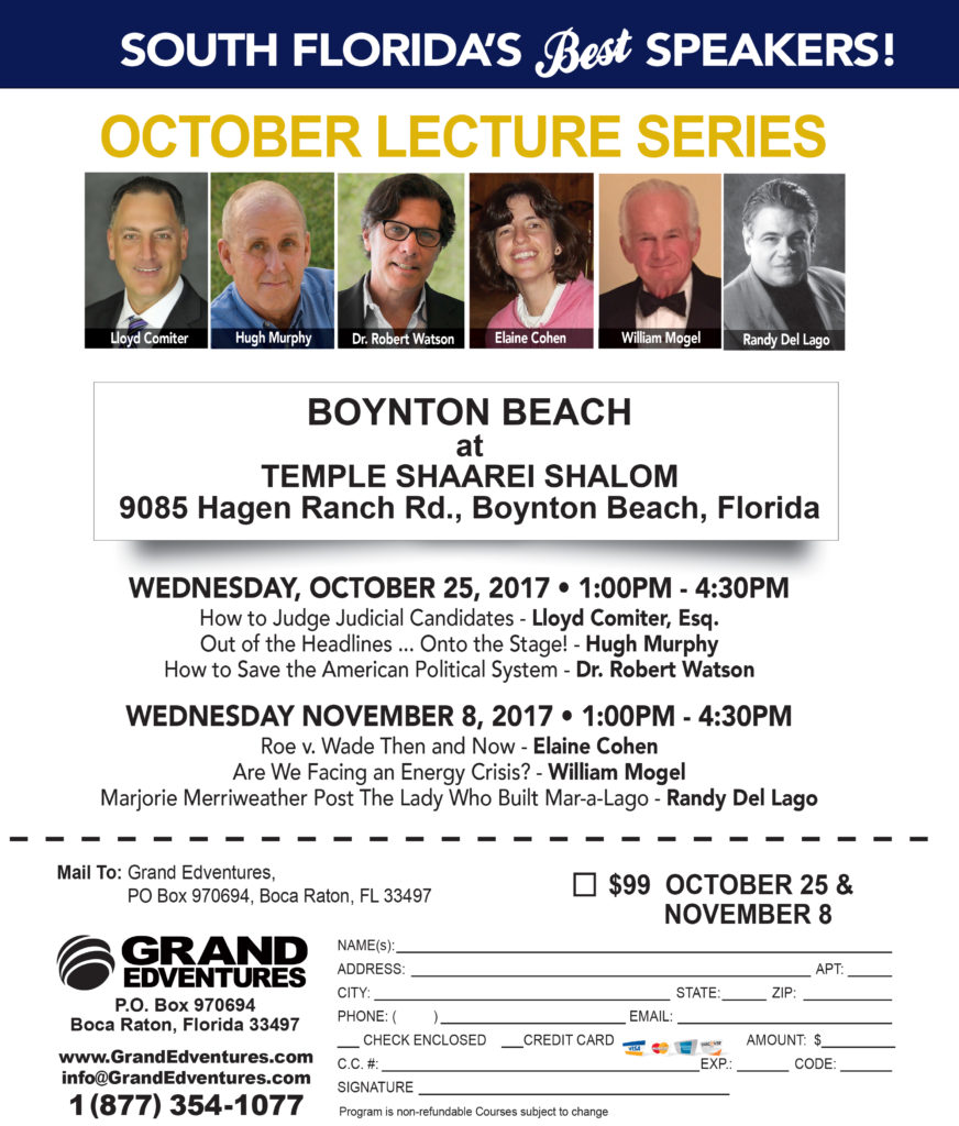 Lecture Series: October/November Lecture Series